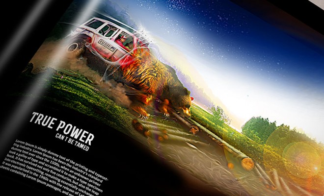 Offroad Advertising Design