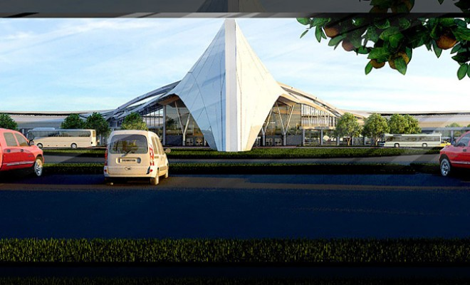 Airport Terminal Archviz – Parking lot