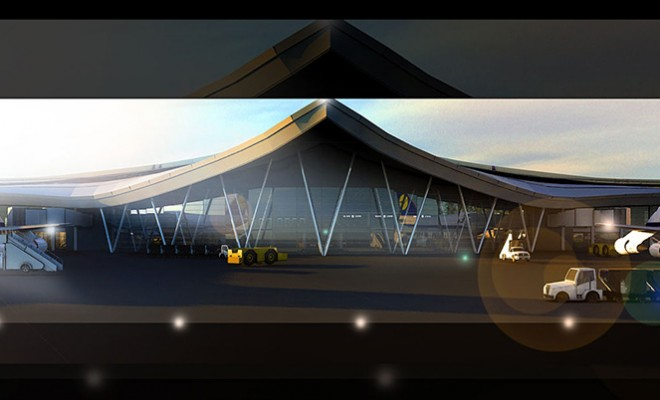 Airport Terminal Architectural Visualization