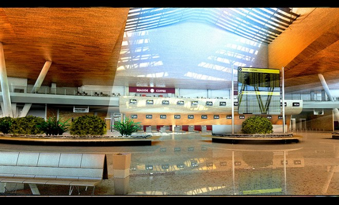 Airport Terminal Architectural Visualization – Departures
