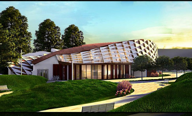 Modern Youth Center Architectural Visualization