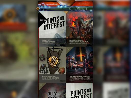 Guild Wars 2 Website Redesign – UI Design