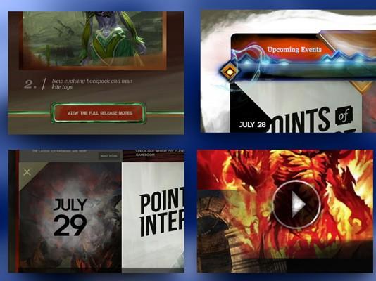 Guild Wars2 Website – UI Design