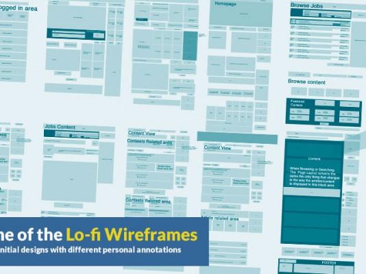 archwaves lo-fi wireframes