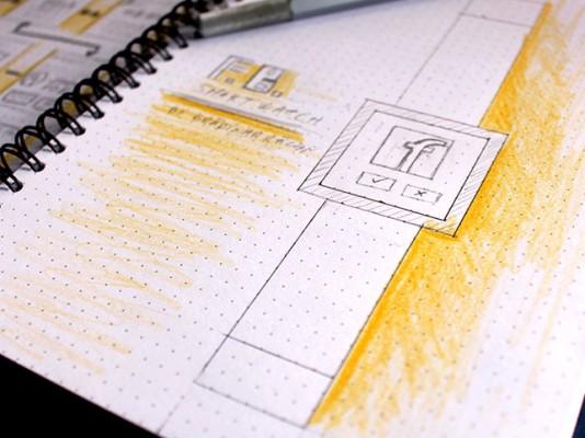 facebook paper prototype sketch